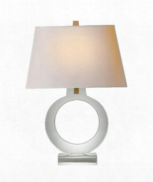 "Ring 18"" 1 Light Table Lamp In Crystal"