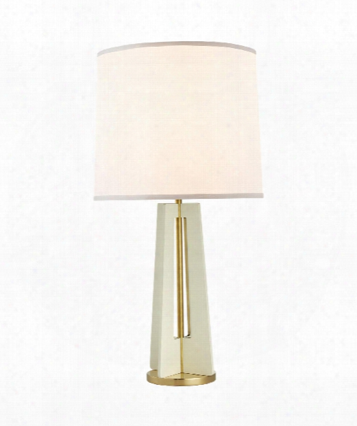 """Silhouette 16"""" 1 Light Table Lamp In China White"""