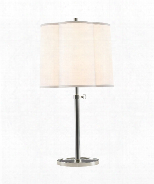 "Simple Scallop 15"" 1 Light Table Lamp In Soft Silver"