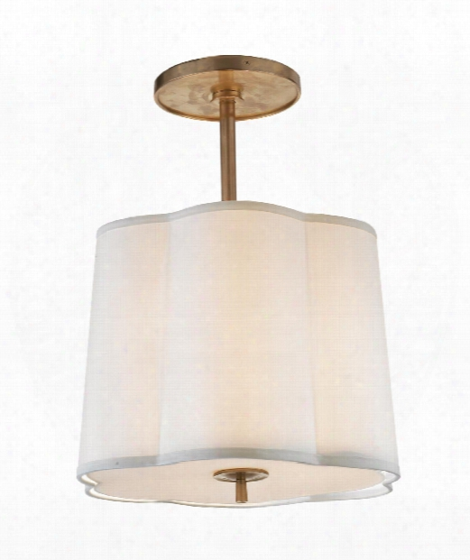 """Simple Scallop 16"""" 3 Light Large Pendant In Soft Brass"""