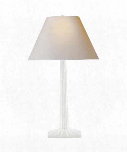 "Strie 17"" 1 Light Table Lamp In Plaster White"