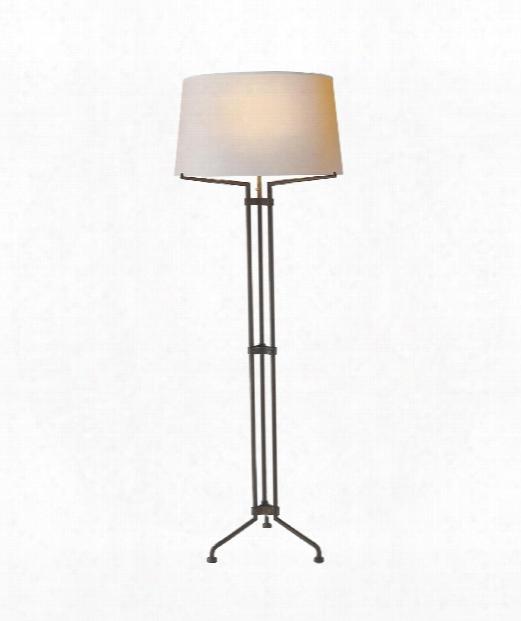 """Terrazo 23"""" 1 Light Floor Lamp In Aged Iron"""