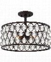 "Alexandria 16"" 3 Light Semi Flush Mount in Palladian Bronze"