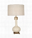 "Athena 9"" 1 Light Table Lamp in Aged Brass-Bone"