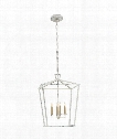 "Darlana 17"" 4 Light Foyer Pendant in Old White"