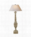 "Gustavian 14"" 1 Light Table Lamp in Belgian White"