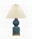 "Huping 22"" 1 Light Table Lamp in Oslo Blue"