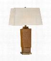 "Khan 19"" 1 Light Table Lamp in Shanghai Brown"