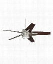 Luxe Eco Ceiling Fan in Brushed Steel
