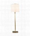 "Petal 17"" 1 Light Floor Lamp in Soft Brass"