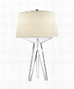 "Russell 19"" 1 Light Table Lamp in Crystal"