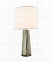 "Silhouette 16"" 1 Light Table Lamp in Gray"