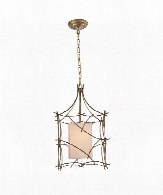 "Victoria 14"" 1 Light Foyer Pendant In Gilded Iron"