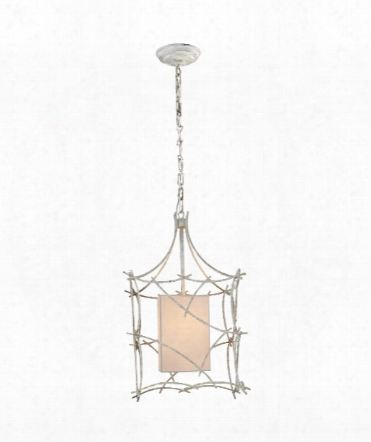 "Victoria 14"" 1 Light Foyer Pendant In Old White"