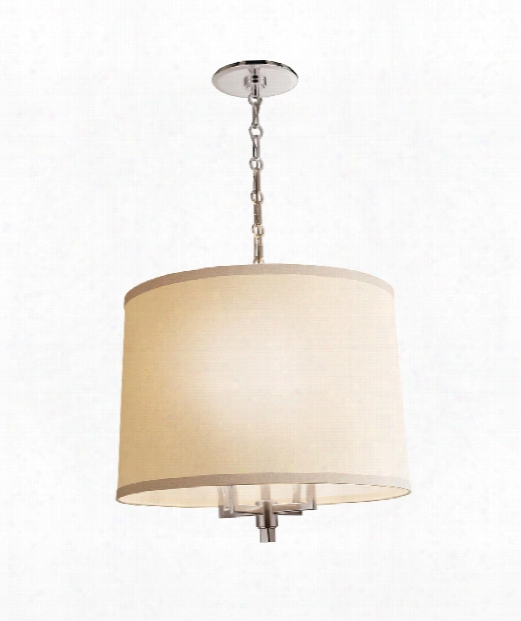 "Westport 23"" 4 Light Large Pendant In Soft Silver"
