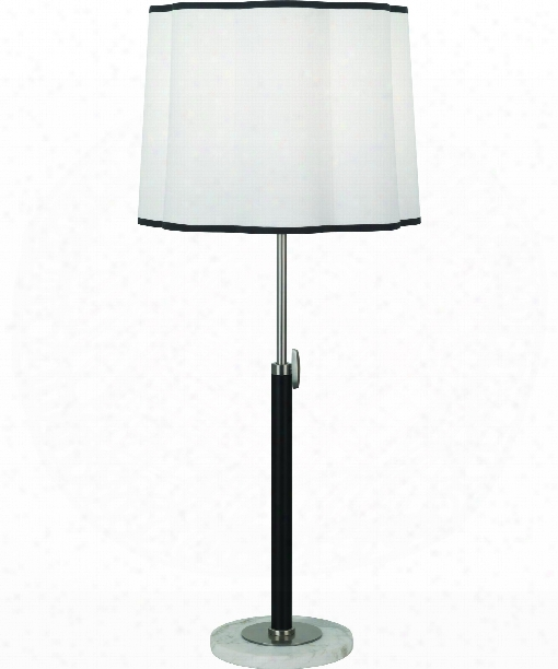 """Axis 7"""" 1 Light Table Lamp In Antique Nickel-matte Black"""