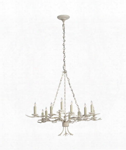 "Branch 33"" 12 Light Chandelier In Old White"