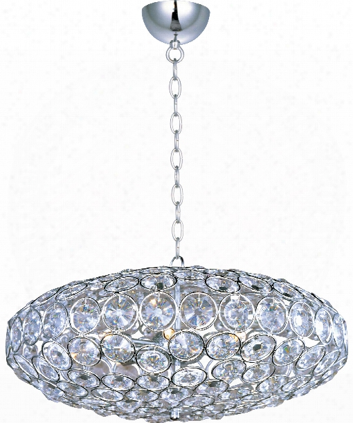 "Brilliant 24"" 8 Light Large Pendant In Polished Chrome"