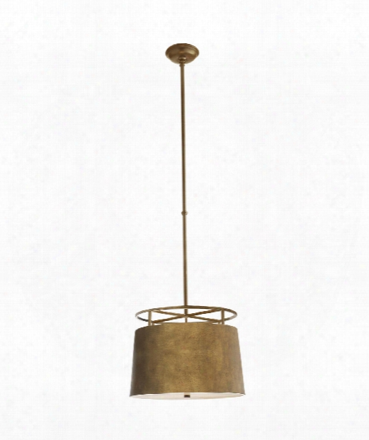 "Bryden 18"" 2 Light Large Pendant In Gilded Iron"