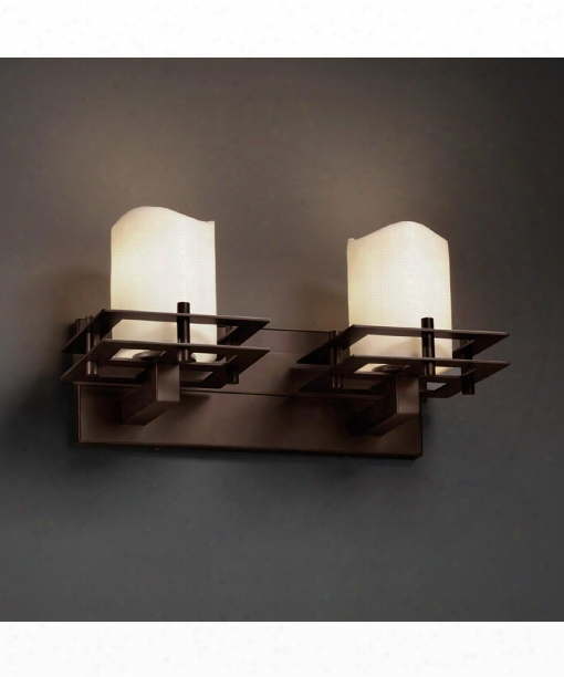 "Candlearia 17"" 2 Light Bath Vanity Light In Dark Bronze"