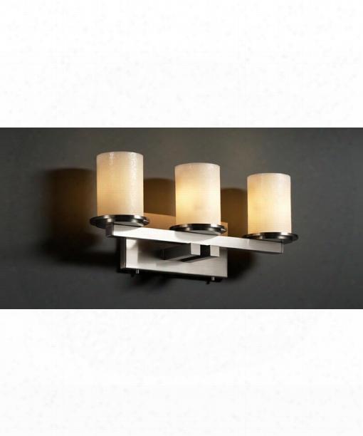 "Candlearia Dakota 21"" 3 Light Bath Vanity Light In Brushed Nickel"