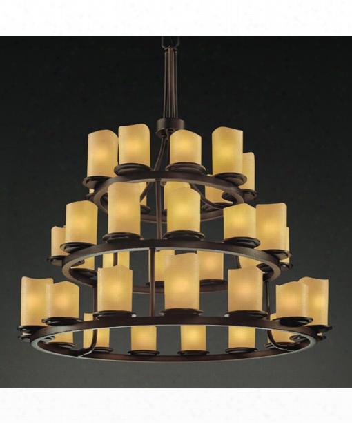 "Candlearia Dakota 42"" 36 Light Chandelier In Dark Bronze"