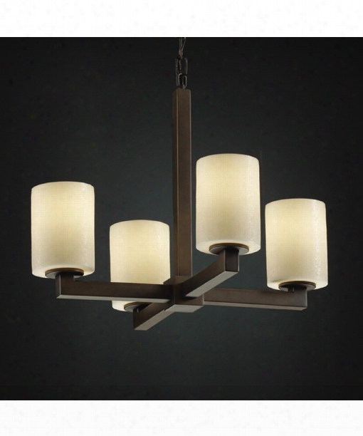 "Candlearia Modular 20"" 4 Light Mini Chandelier In Dark Bronze"