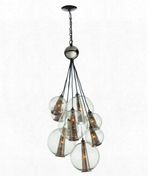 "Caviar 21"" 1 Light Multi Pendant Light In Antique  Brass"