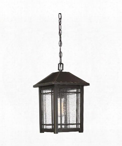 "Cedar Point 10"" 1 Light Outdoor Outdoor Hanging Lantern In Palladian Bronze"