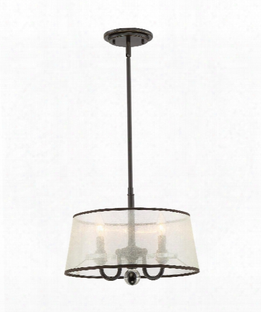 "Ceremony 16"" 3 Light Large Pendant In Brown"