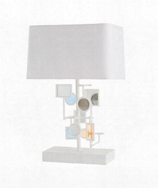 "Chasca 20"" 1 Light Table Lamp In White"