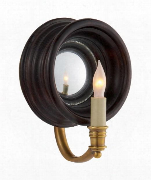 """Chelsea Ref 7"""" 1 Light Wall Sconce In Tudor Brown Stain"""