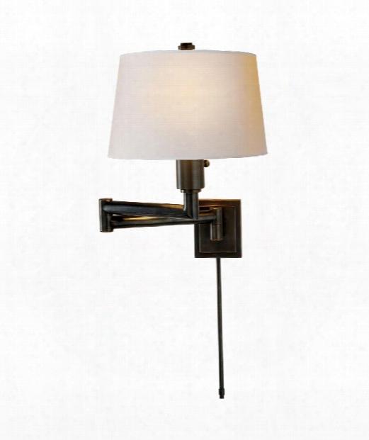 Chunky 1 Light Wall Swing Lamp In Bronze