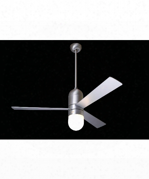 Cirrus 1 Light Ceiling Fan In Brushed Aluminum