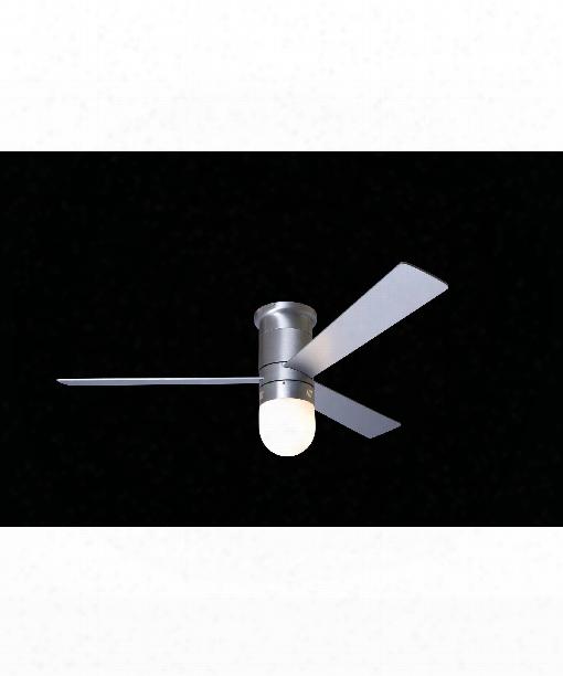 Cirrus 1 Light Flush Mount Fan In Brushed Aluminum