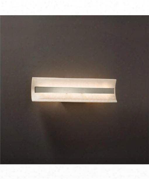 "Clouds 21"" Led 1 Light Bath Vanity Light In Brushed Nickel"