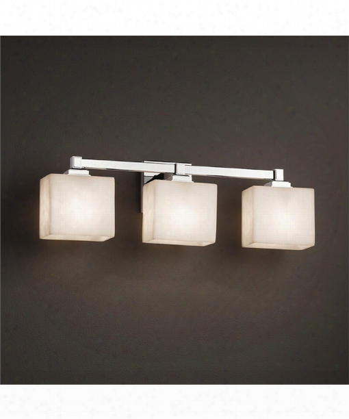 "Clouds 24"" 3 Light Bath Vanity Light In Polished Chrome"