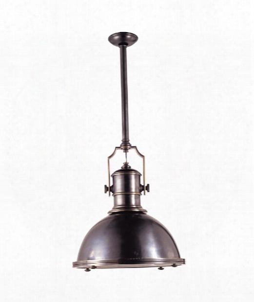 "Country Industrial 20"" 1 Light Mini Pendant In Bronze"