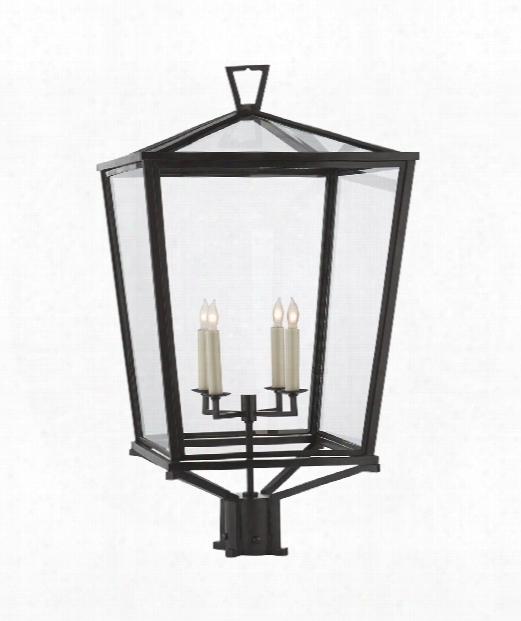 """Darlana 17"""" 4 Light Outdoor Outdoor Post Lamp In Bronze"""