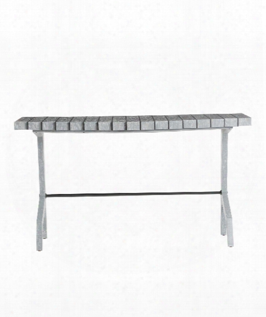 """Dionne 59"""" Console Table In Cerused Gray"""