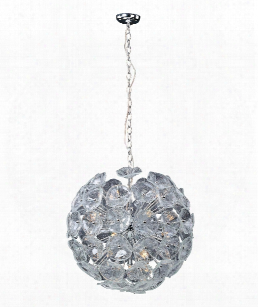 "Fiori 23"" 20 Light Large Pendant In Polished Chrome"