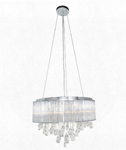 "Gala 17"" 10 Light Large Pendant In Polished Chrome"