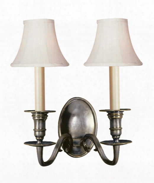 "Grosvenor House 11"" 2 Light Wall Sconce In Bronze"