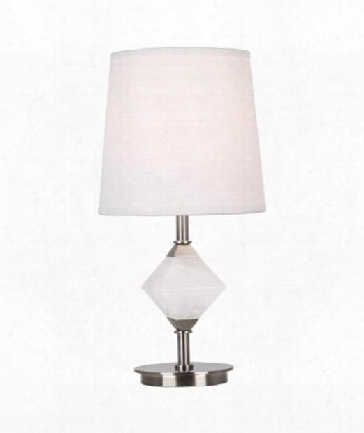 """Juliet 4"""" 1 Light Table Lamp In Dark Antique Nickel"""