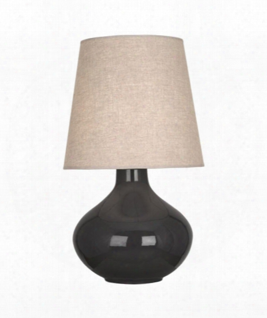 """June 8"""" 1 Light Table Lamp In Refined Nickel-charcoal Ash"""