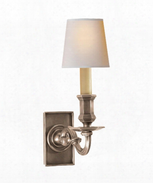 "Library Wall Sconce 4"" 1 Light Wall Sconce In Antique Nickel"