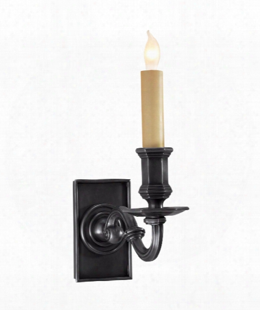 """Library Wall Sconce 4"""" 1 Light Wall Sconce In Bronze"""
