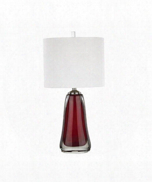 "Ms. Scarlet 14"" 1 Light Table Lamp In Scarlet"