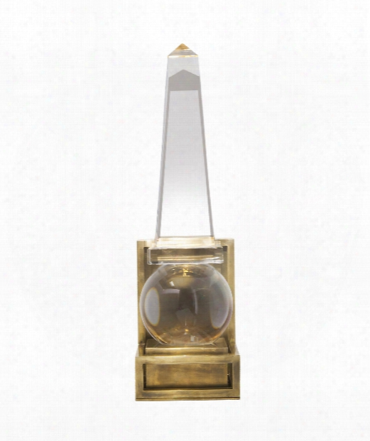 "Paladin 5"" 1 Light Wall Sconce In Crystal With Brass"