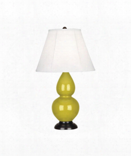"Small Double Gourd 5"" 1 Light Table Lamp In Bronze-citron"